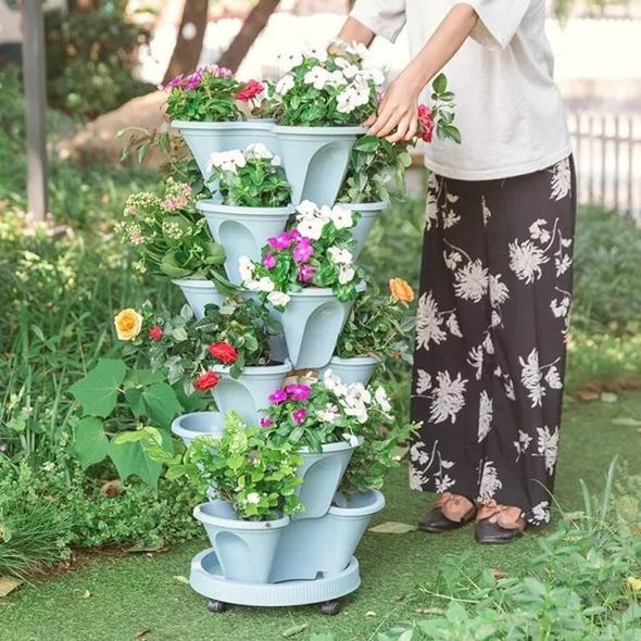 🌼Early Summer Hot Sale 50% OFF🌼Stand Stacking Planters Strawberry Planting Pots