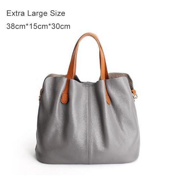 Two In One Leather Shopper Tote Bag