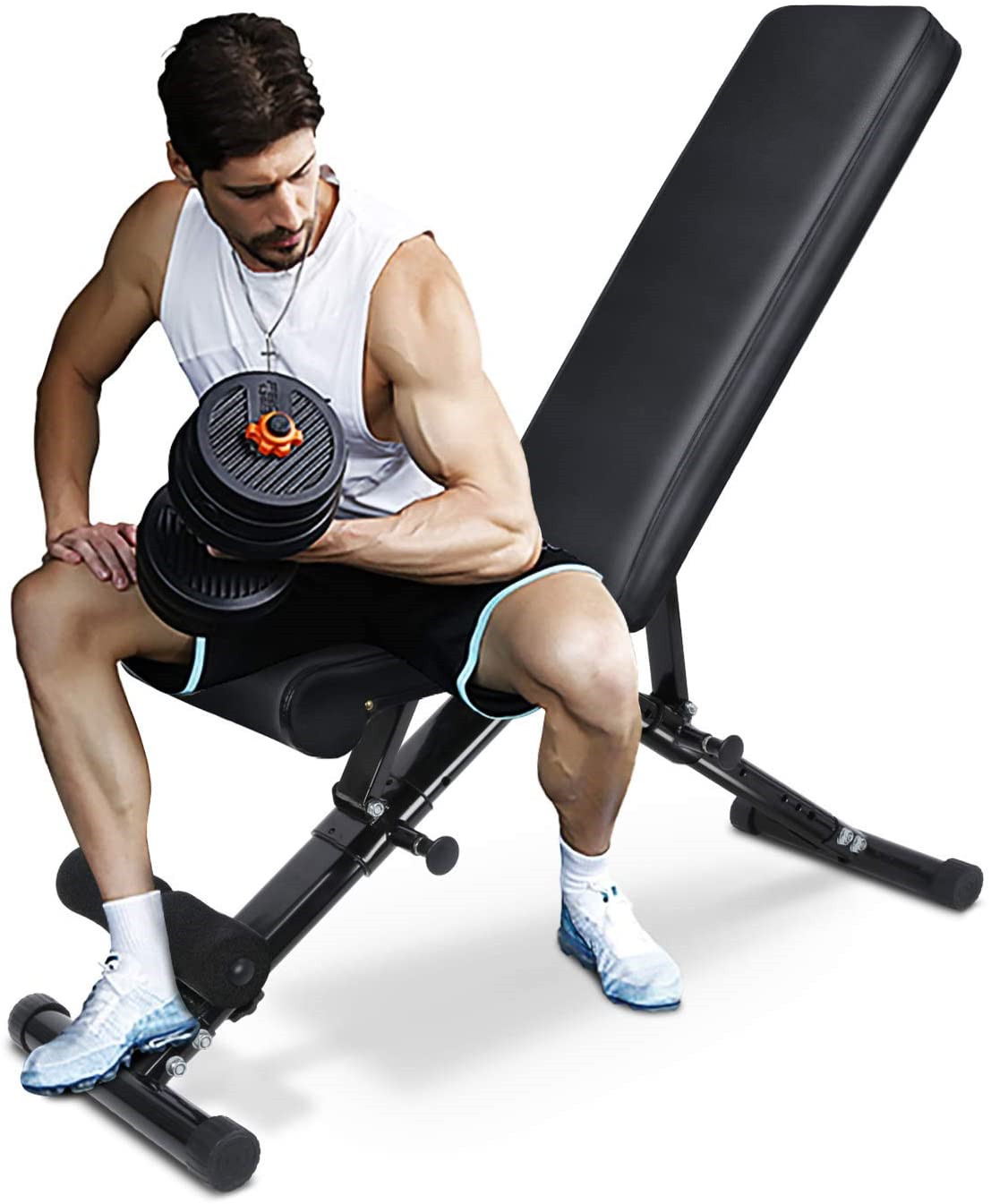 Sport Adjustable Folding Weight Bench& Strength Training Bench