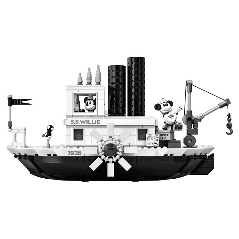 New Ideas Steamboat Willie Movie Building Blocks Bricks Toys For Children Gifts Model Kids Christmas Gift