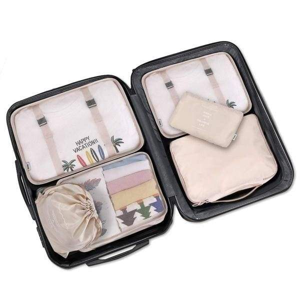 8PCS Set for Travel Organizer Bags Accessories Luggage Suitcase Organizer Waterproof Wash Bag Clothes Organizer Pouch