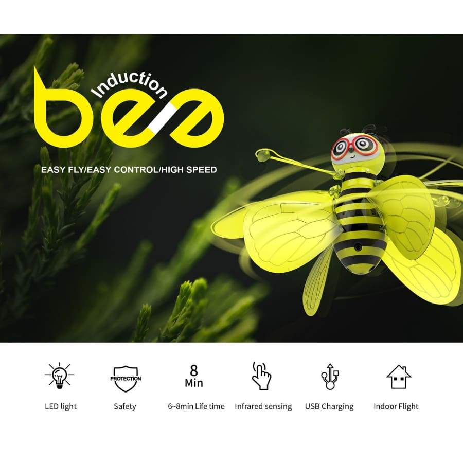 2019 new Mini Flying Ball Bee Toys,Rc Infrared Induction Drone Helicopter With Shinning