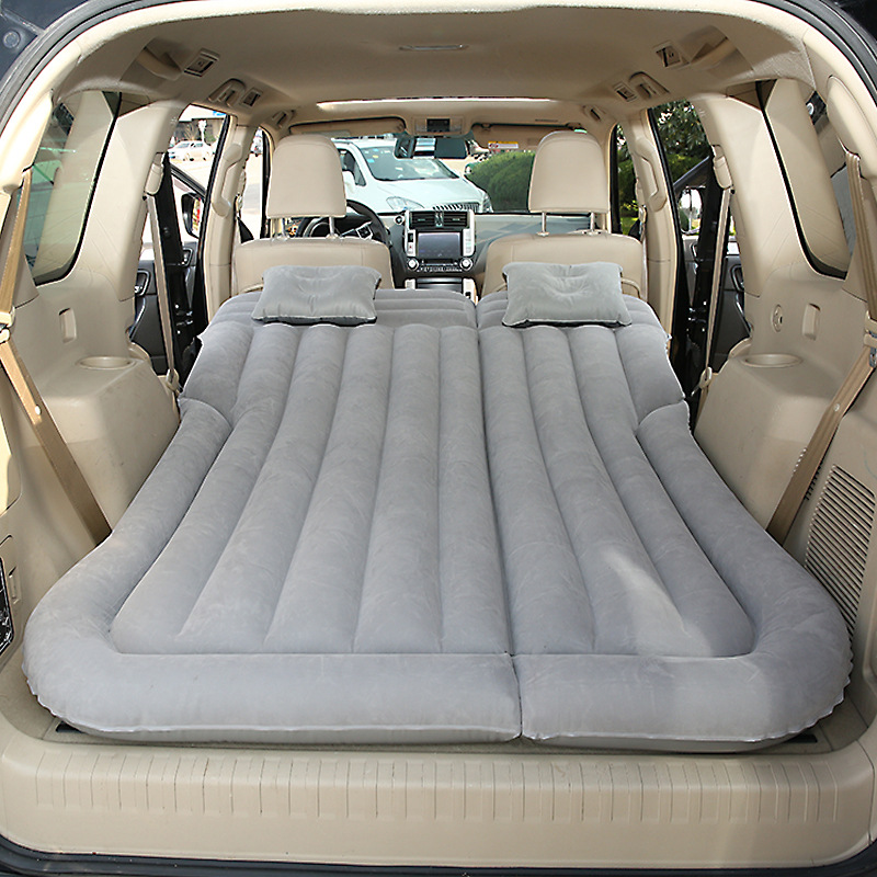Car SUV Air Mattress Camping Bed with Pillow, Inflatable with Pump for Rest Sleep Travel Camping