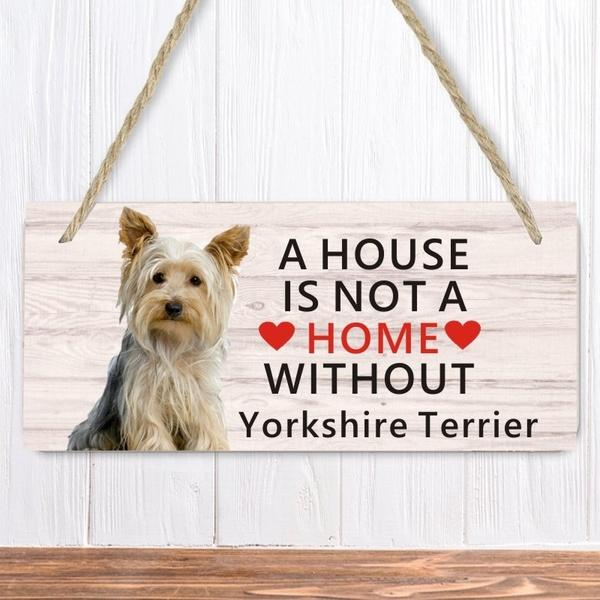Yorkie ( Yorkshire Terrier ) Dog Lover Gift Bundle - Decorative Wall Sign A House is Not a Home Without a Yorkie