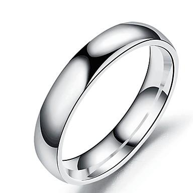 Men's Women's Band Ring Ring Tail Ring 1pc Black Silver Rose Gold Stainless Steel Titanium Steel Circular Basic Fashion Gift Daily Jewelry Cool