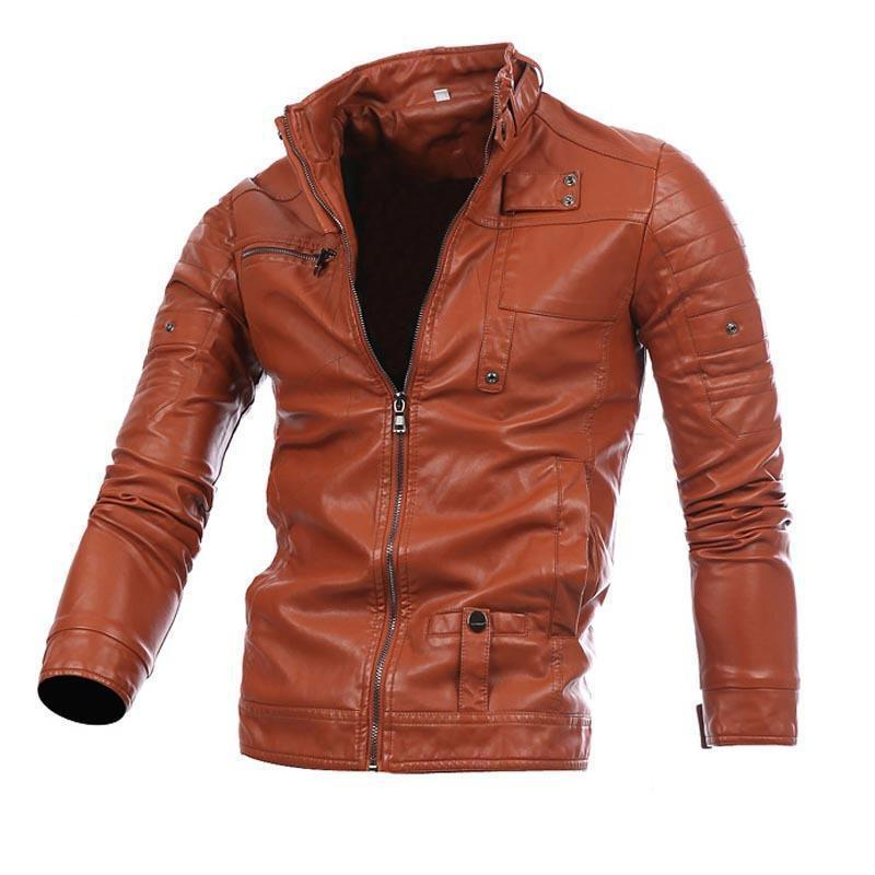 New Men's  Motorcycle Leather Clothing