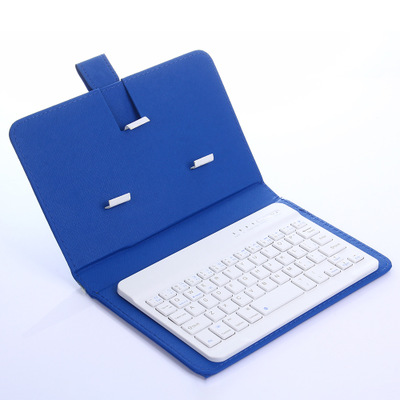 Mini Portable Wireless Bluetooth Keyboard Flip Leather Case Cover  for Smartphone