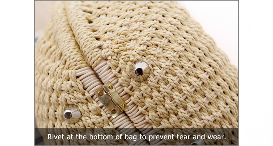 Summer Beach Bag Shell Shaped Women's Fashion Handbags Straw Bag For Ladies