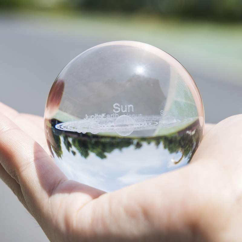(Christmas Sale-Save 50% OFF) 3D Solar System Crystal Ball(With Crystal Base)