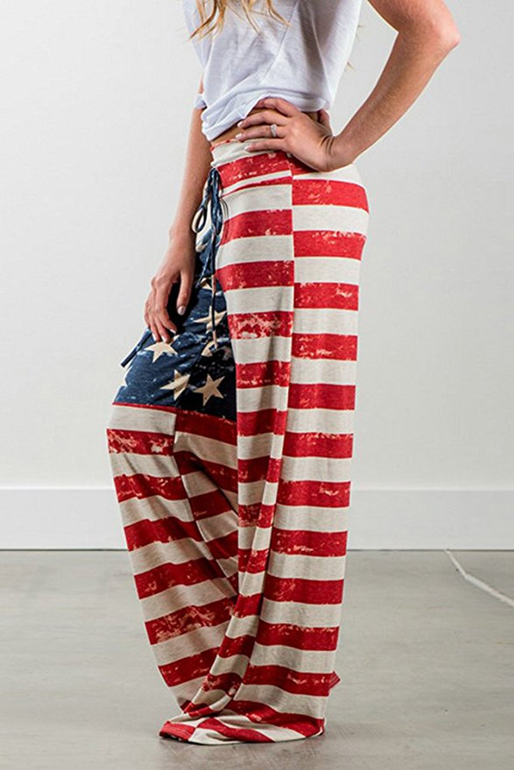 American flag Comfy Casual Pajama Pants & Tank Tops