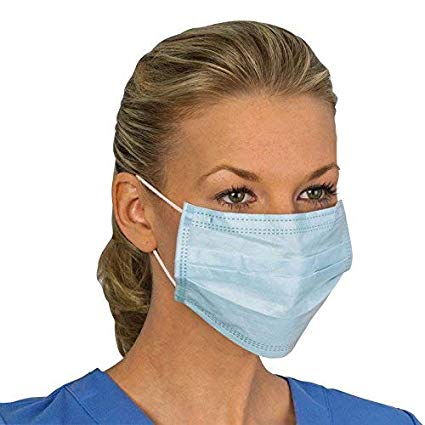 Kisslay 50 Pcs Face Mask 3 Layer Dust Filter Mask with Elastic Ear Loop