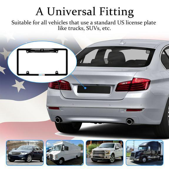 60% Off - License Plate Frame 170 Degree Angle Rear View Camera