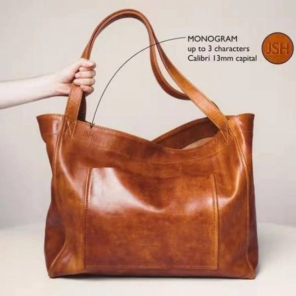 50% OFF💥Women's Large Soft Leather Tote Bag with Pocket