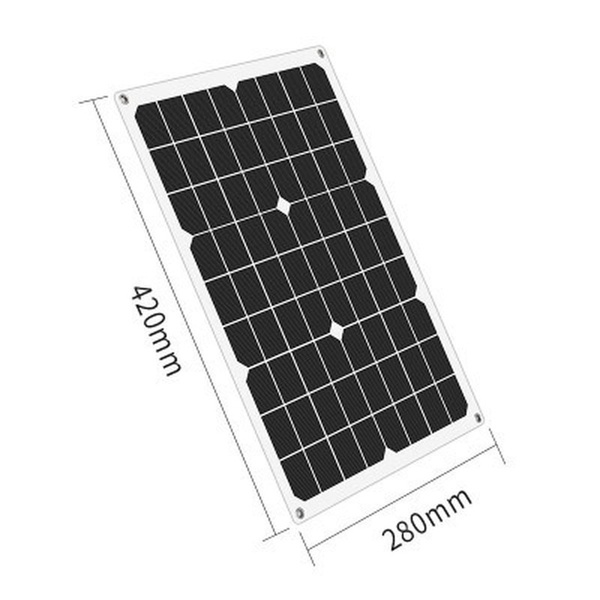 Hot Sales Waterproof and Snowproof Polysilicon 4000W 5V/12V Dual Output USB Solar Panel Flexible Monocrystalline Battery Charge with Dual High Efficiency USB Solar Controller(Option) for Home/Outdoor Solar Power Kit