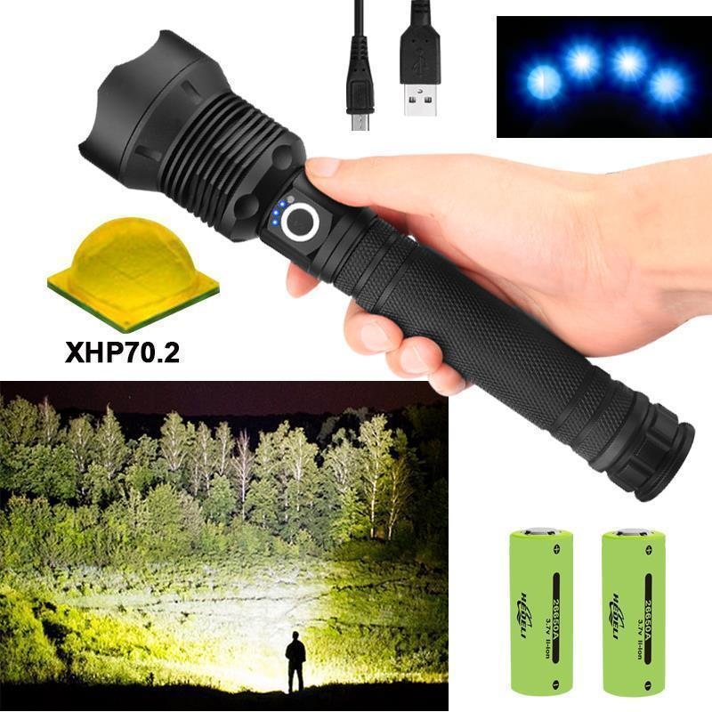 (Buy 2 Free Shipping+68% OFF!!)9000 lumens xhp70.2 most powerful flashlight