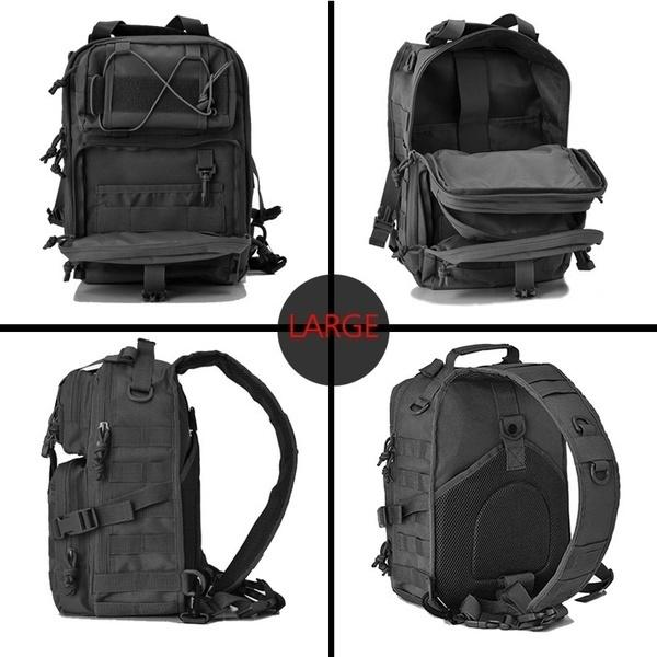 NEW Men Military Tactical Assault Pack Sling Backpack Army Molle Waterproof EDC Rucksack Bag for Outdoor Hiking Camping Travel