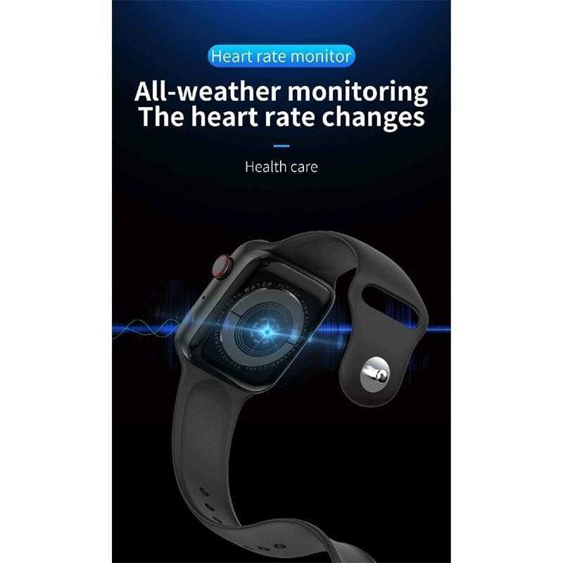 Fourth Generation Smart Watch Heart Rate Blood Oxygen Pressure Monitor Waterproof Sporty Smartwatch Fitness Tracker Smart Bracelet Wristband for Android Apple Phone PK Smart Watch Series 4