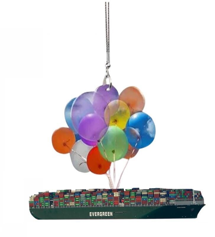 Colorful Balloon Cat-CAR HANGING ORNAMENT