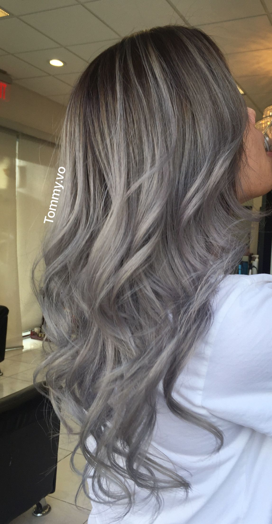 2021 New Lace Front Wigs Copper Brown Hair Ash Gray Hair Color Ombre I Have Gray Hair