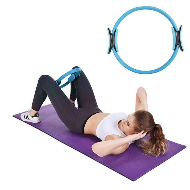 SKRTEN 15 inch Resistance Ring Elastic Fitness Circle Equipment with Pad