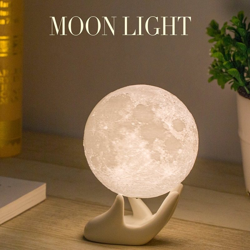 15cm Rechargeable 16Colors Moon Lamp Remote & Touch Control and USB Charging