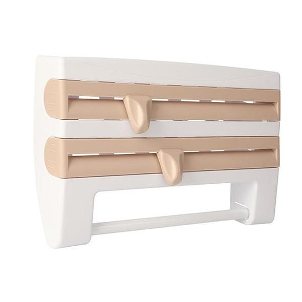 (FREE SHIPPING)    Multifunction Film Storage Rack Cutter for Kitchen
