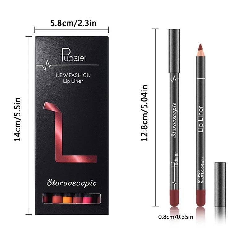 British Brand, 12 Colors Lip Liner Pencil Waterproof Non-Marking - 42% Off today