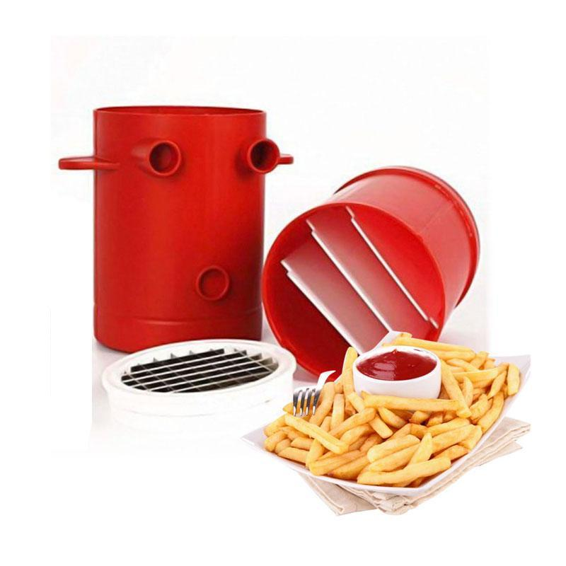 BREEZYLIVE 2-in-1 Potato Slicer Microwave Container Perfect French Fries Maker