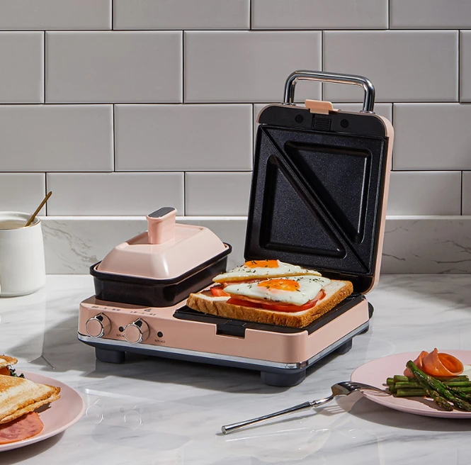 Multifunctional light breakfast machine & sandwich and toast plate