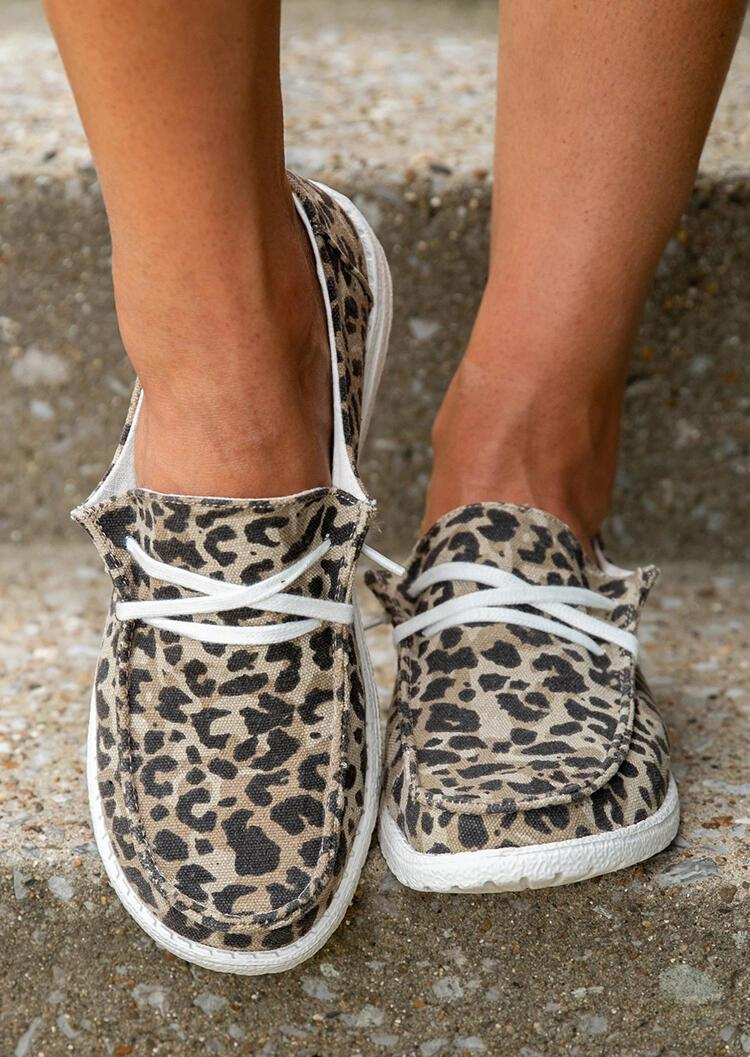 Cow Print Lace Up Sneakers