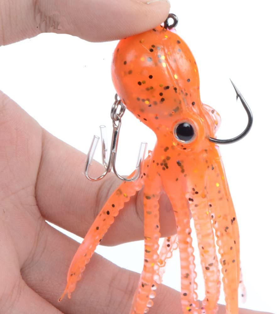 Octopus fishing lures Retail 23g 9cm long tail soft lead