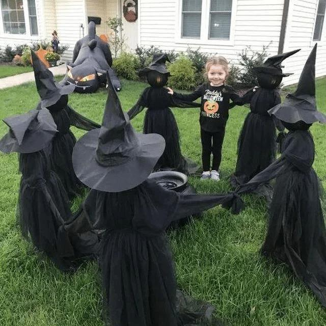 👻HAPPY HALLOWEEN👻LIGHTED HALLOWEEN WITCH DECORATION SET-BUY 2 SETS FREE SHIPPING