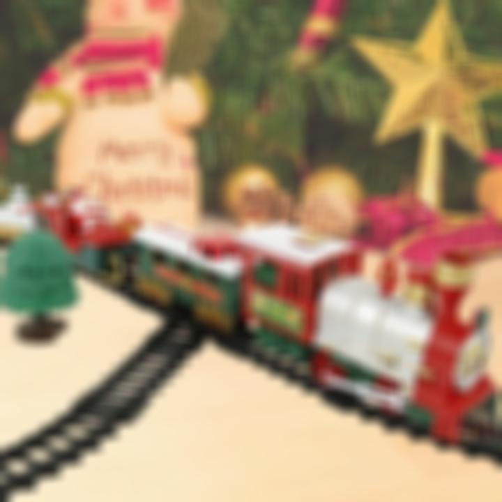 50%OFF-Christmas Electric Rail Car Train Toy
