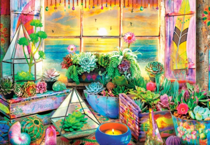 FLOWERS RAINBOW 1000 Piece Puzzle – Just $24.99 & Free Puzzle Glue (Get 2 Free Shipping)