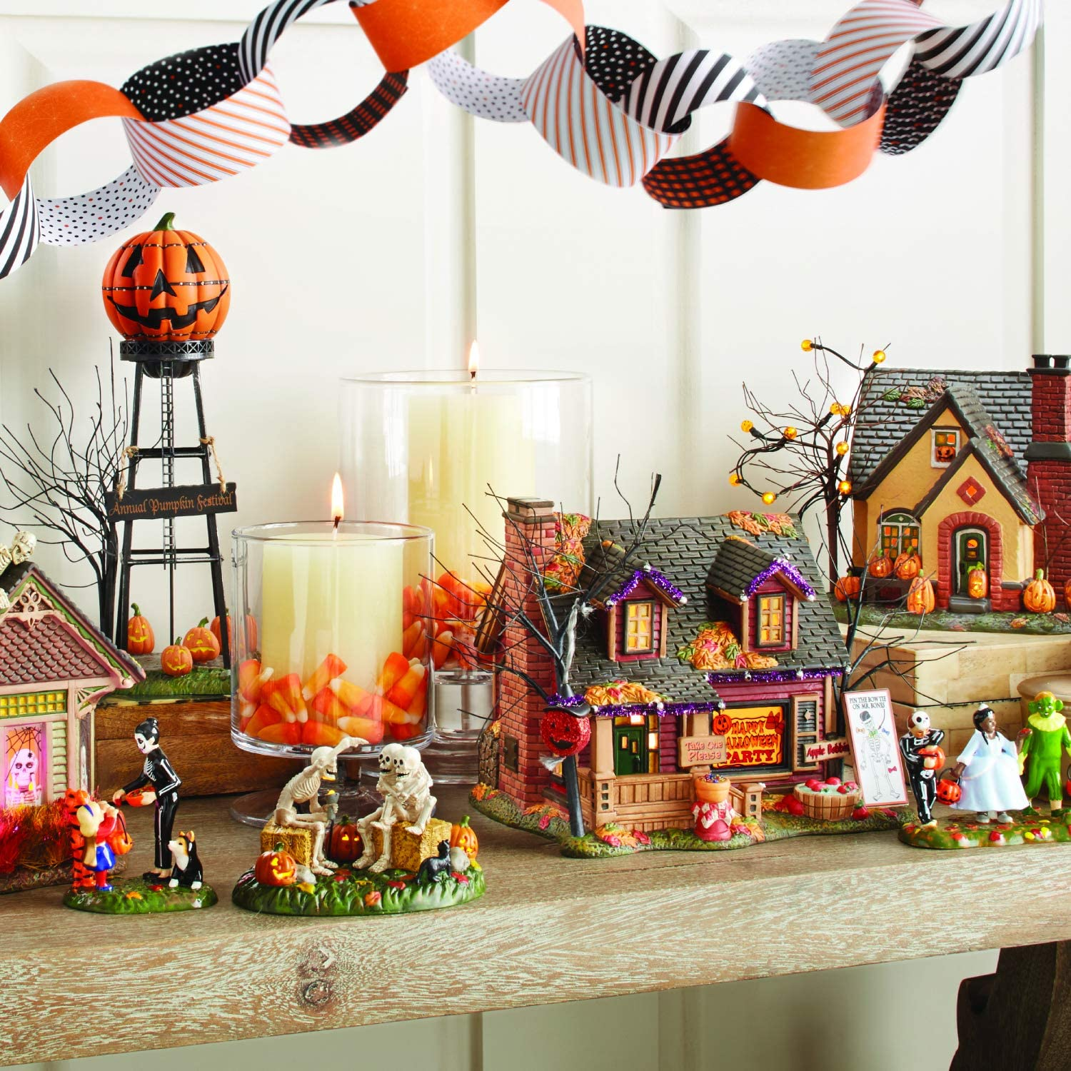 Department  Halloween Accessories for Village Collections Pumpkin Water Tower Figurine