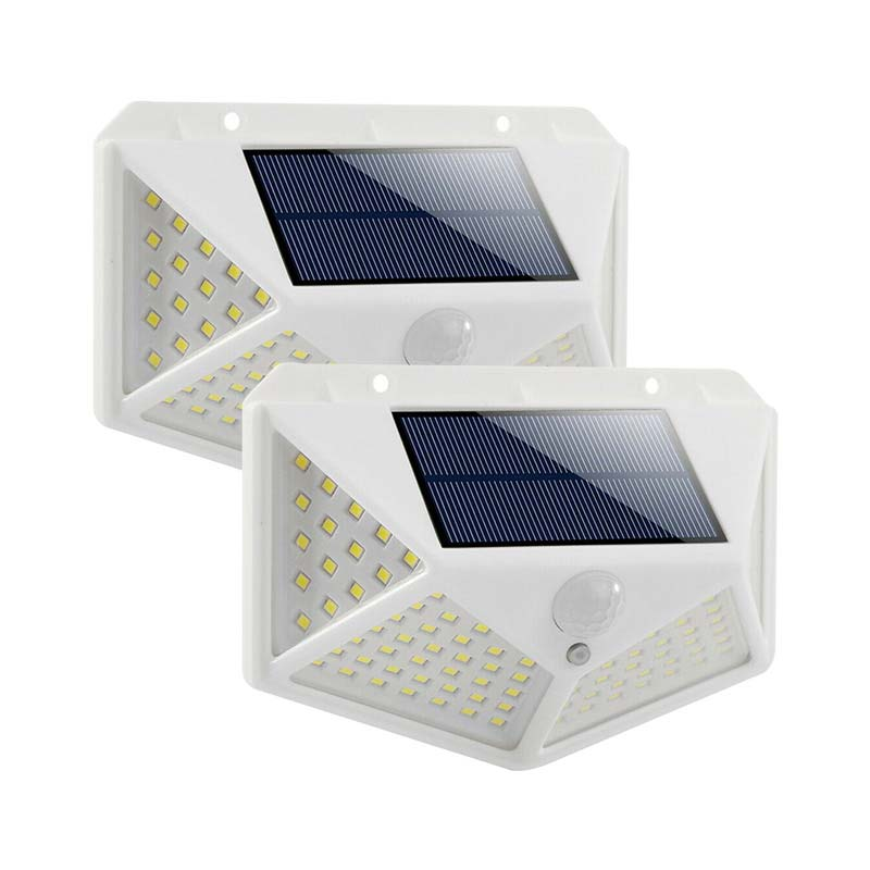 Official Authorized 100LED Solar Light Motion Detector Outdoor Searchlight Sensor Spotlight