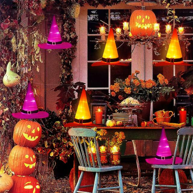 【🧙♀️Halloween Sale🧙♀️】Halloween Decorations Witch Hats Caps String Lights