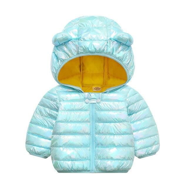 2020 Autumn Down Jacket For Boys Outerwear Coat Toddler Kids Hooded Winter Jacekt For Girls Children Jacket 1 2 3 4 5 Years-WT07