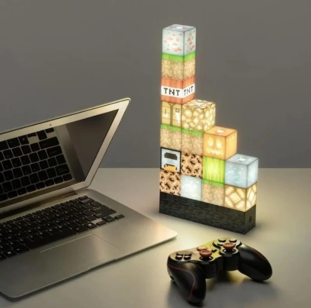 【only $29.99 each】💕 Pixel square mosaic table lamp, creative table lamp that can be freely spliced
