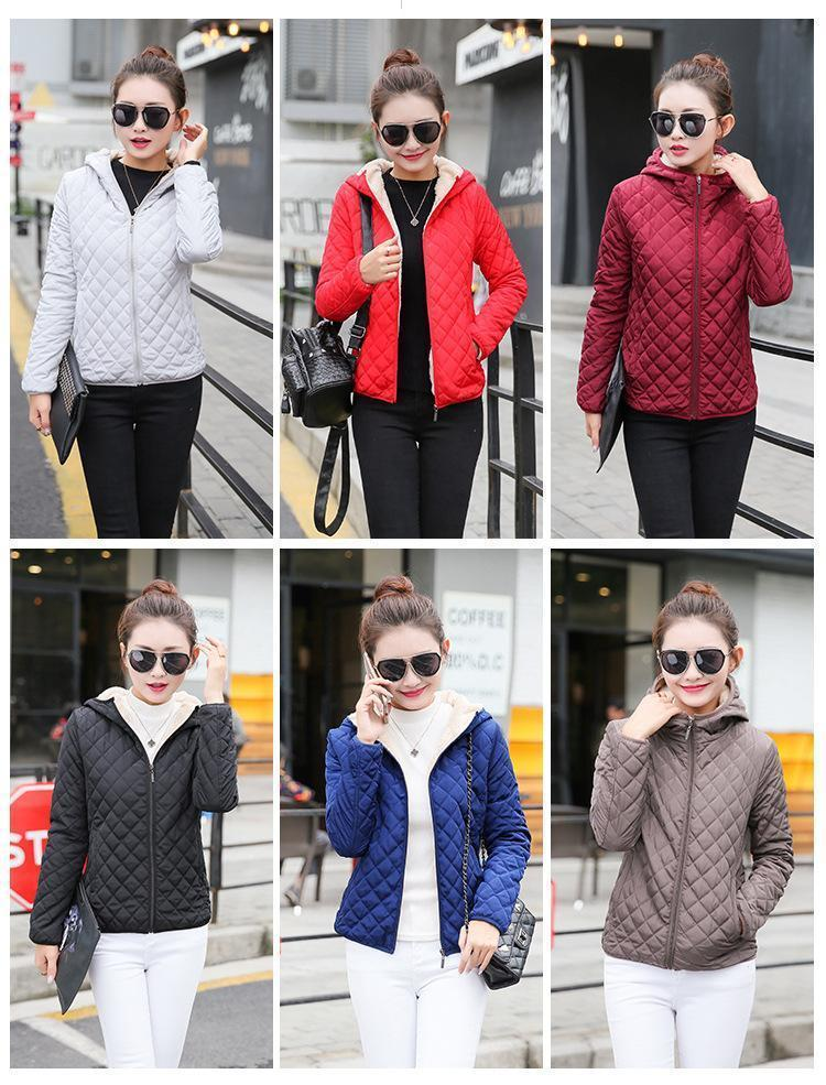 Winter plus size velvet cotton hooded Coats