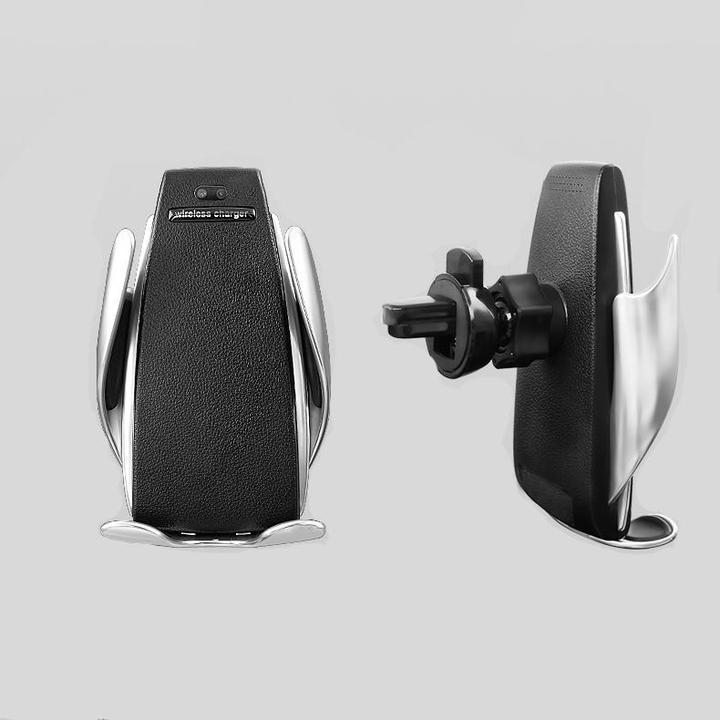 Infrared Auto-sensing and single hand operation Automatic clamping Wireless Car Charger Mount