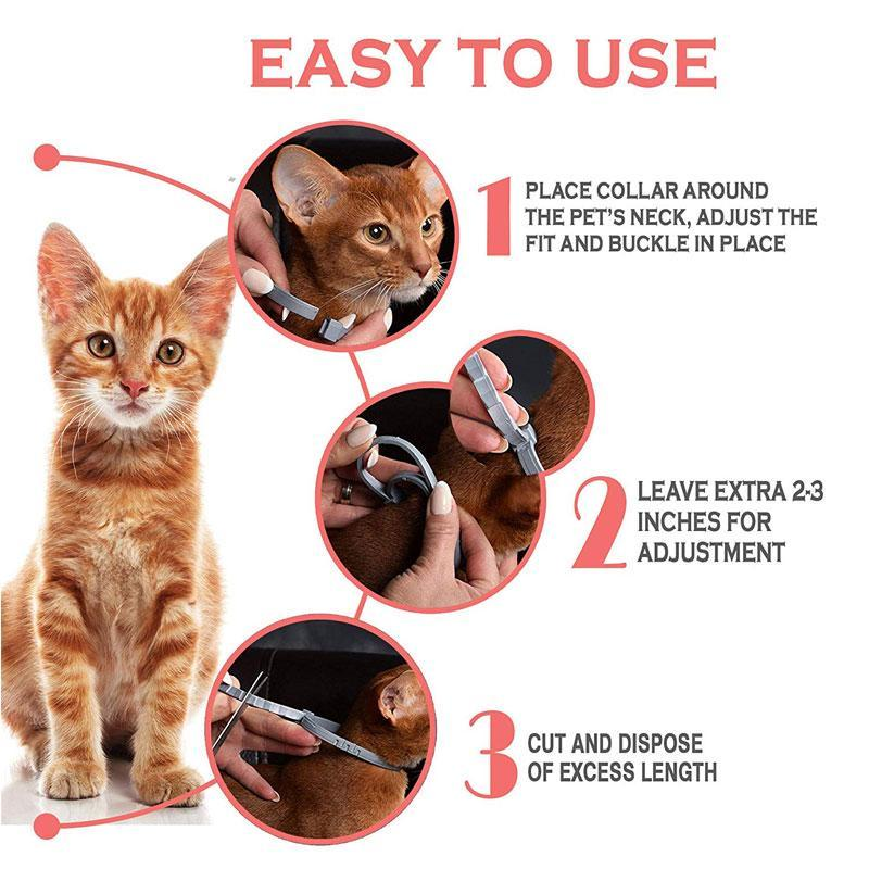 60cm Waterproof Flea and Tick Collar for Cats/Dogs