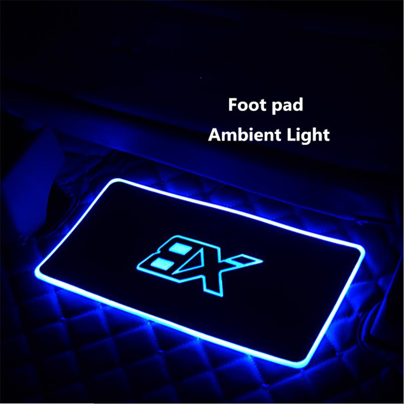 [Hot sale!!!]4 in 1 Car Interior Floor Mats Sound control Colorful flashing Light With Remote