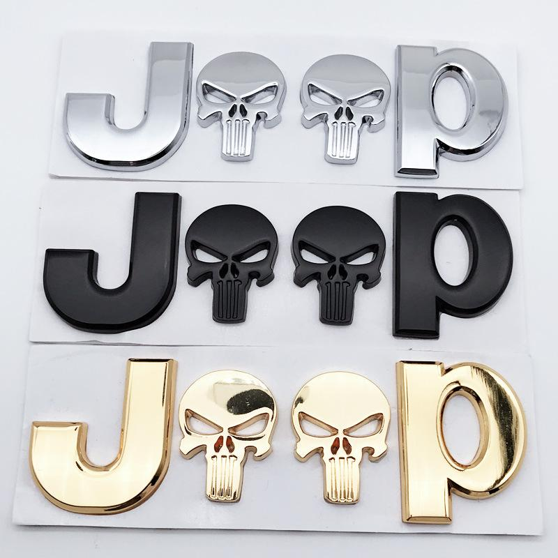 Skull Cars Metal Decals Stickers