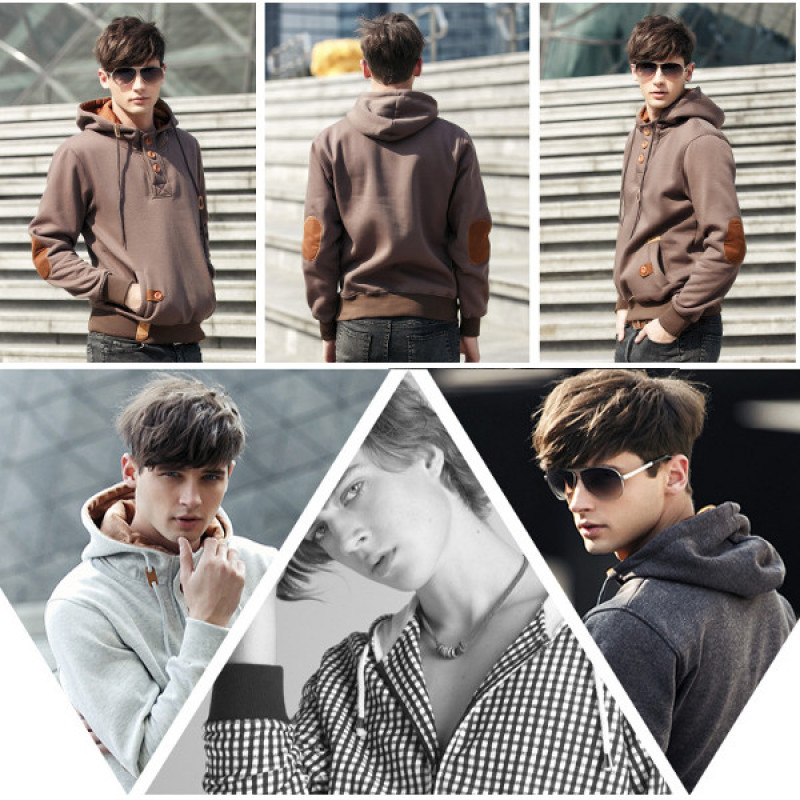 Men's hooded casual sweater pullover sweater