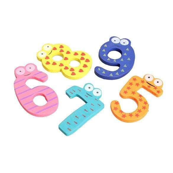 Learning machines 10pcs animal sticker figure magnet number