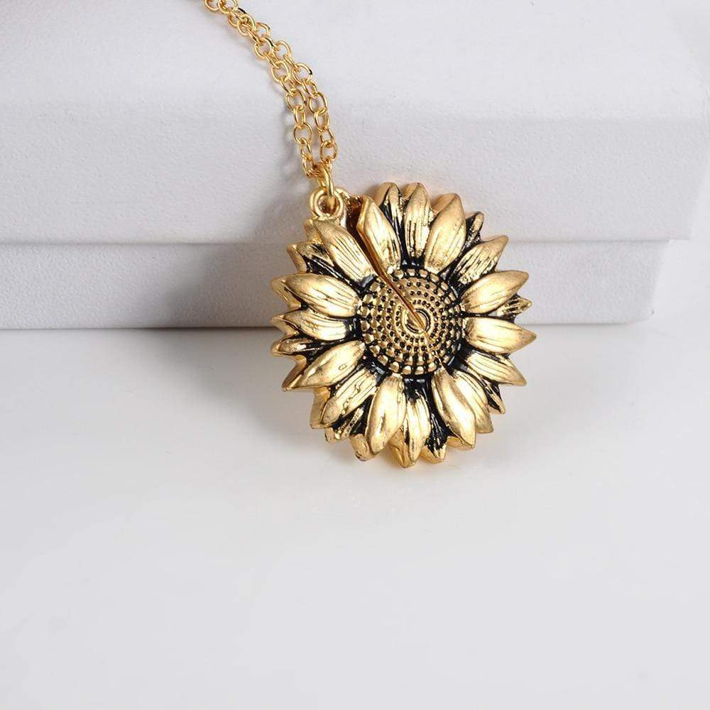 [Free Shipping]You Are My Sunshine Sunflower Necklace