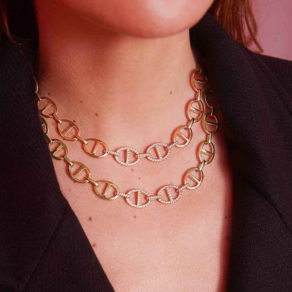 Chaîne Maille Marine Necklace - Yellow Silver