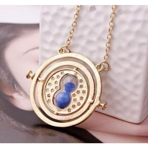 New Harry Potter Hermione Granger Turner Necklace Pendant gold hourglass collar women fashion jewelry gold necklace jewelry gift LKF