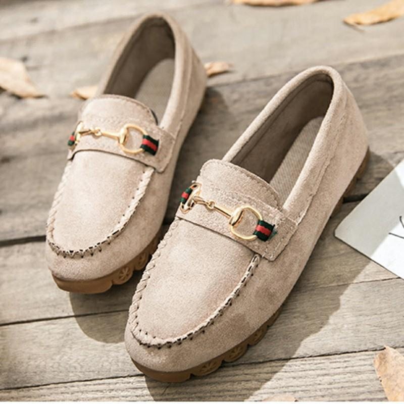 American imported leather loafer shoes